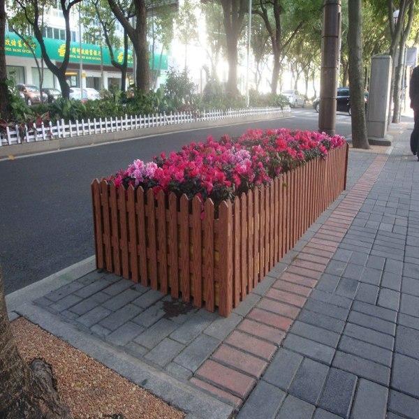 Fashion design no cracking wpc composite plant box /plant pot for garden