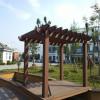 Pergola composite en plastique en bois d'extérieur conçue à la mode/pergola en bois composite pour jardin