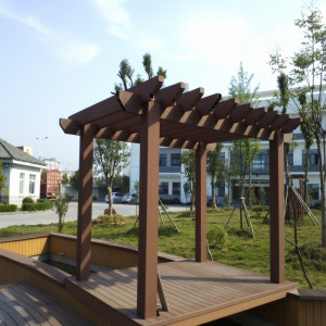 Fashion designed outdoor wood plastic composite pergola/wood composite lumber pergola for garden