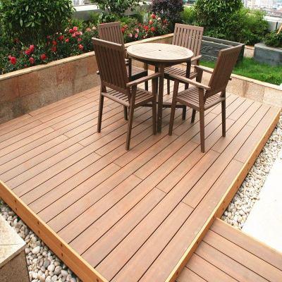 Revêtement de sol en bois composite en plastique pour terrasse à coextrusion extérieure