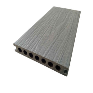Co-extrusion wood plastic composite decking samples