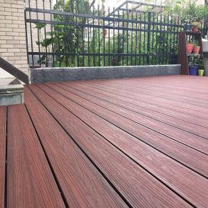 Ultra low maintenance capped  wood plastic composite decking floor