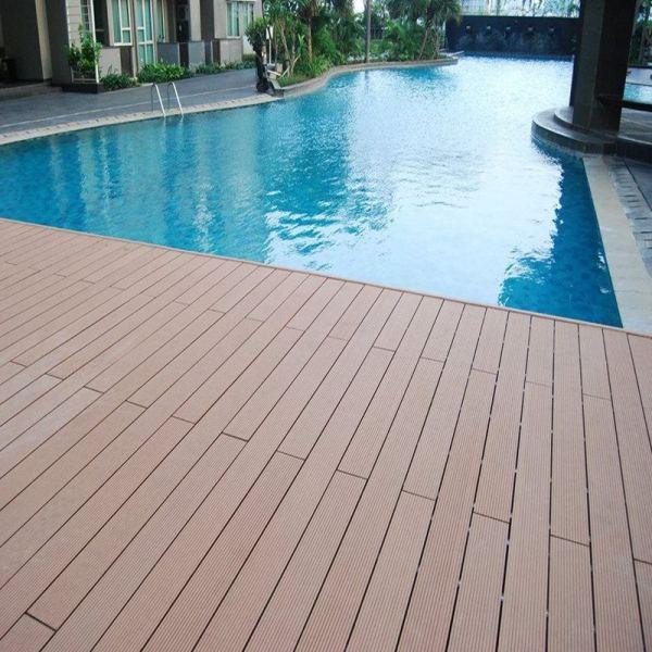 Wpc Decking | External Landscaping Eco-friendly Wood Plastic Composite Deck Floor