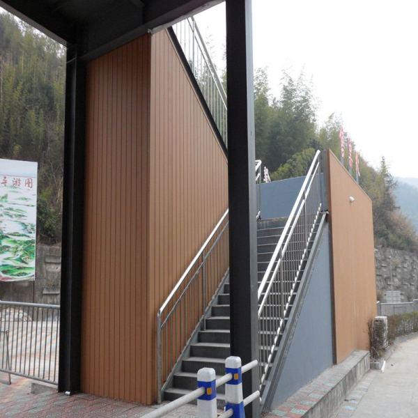 Revestimento externo da parede wpc de madeira composta de plástico
