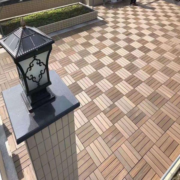Low maintenance co-extrusion DIY balcony tile flooring