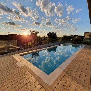 Plancher de terrasse de véranda plafonné haute résistance facile à nettoyer