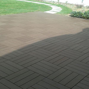 12*12 in wood grain DIY decking tile for patio