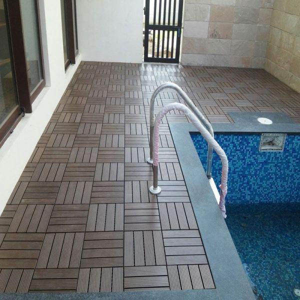 Non slip waterproof bathroom flooring