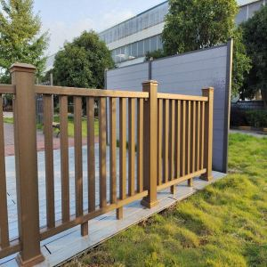 Outdoor easy installation co-extrusion wpc railing/ garden railing