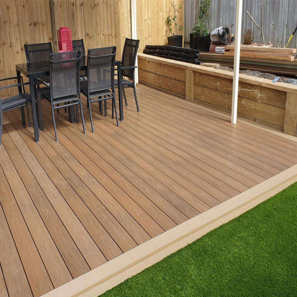 Capped wpc solid dock deck