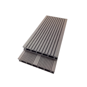 Low maintenance easy install wood plastic composite deck flooring