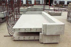 混凝土构件预制图片