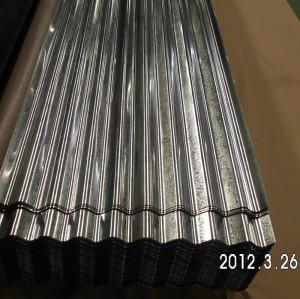 Lámina de acero galvanizada ondulada