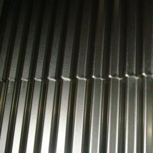 Lámina de acero corrugada con revestimiento aluzinc