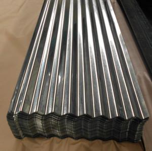 Plancha de acero galvanizado corrugado