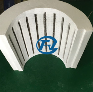 Electrical resistance heating furnace chamber