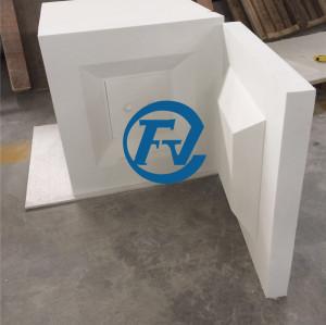 1800 degrees celsius operating temperature ceramic fiber furnace chamber