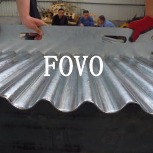 Z275 Molde de acero de la lámina para techos sin asbesto en 2.0mm