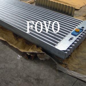 Hoja de acero corrugado galvanizado en un espesor de 1.0mm/1.5mm/2.0 mm