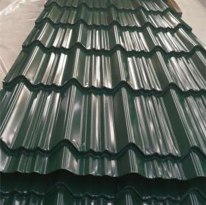 color recubierto / PPGI hoja de acero corrugado con azulejo esmaltado