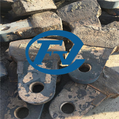 chrome alloy steel hammer head for crusher spare parts