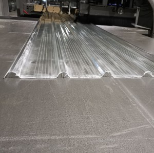 0.5mm thick FRP fiberglass translucent roofing sheet