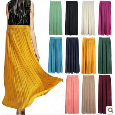 2012 Fashion Skirt Dress Pleated Beach Skirt Match Sexy Bikini With Eight Color for Choice