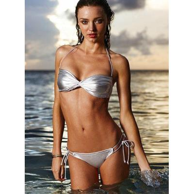 New arrival, sexy swimwear, silver color, sexy bikini with cup pad lining, size S/M