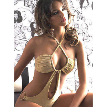 New arrival with pad lined inside hot beige color swimwear and sexy bikini for summer