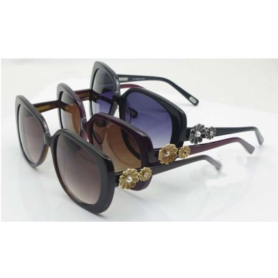 Fashion Design MJ353 Women's Big Frame Sunglasses With Daisy Decoration