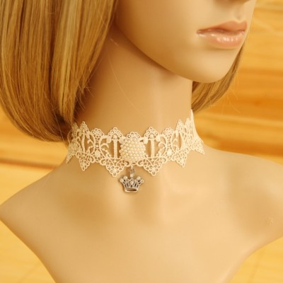 New style graceful white lace women necklace