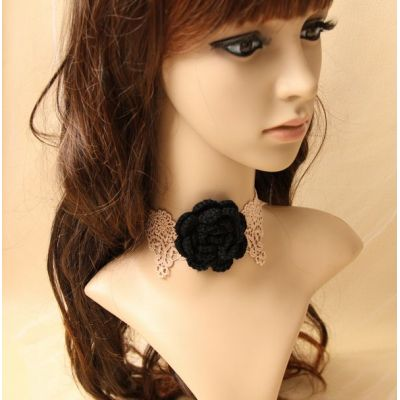 2012 Summer and Autumn fahsion style beige lace necklace
