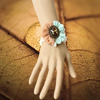 2012 Fashion Vintage Bracelet White Lace Wristband For Promotion