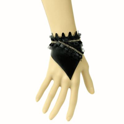 European sexy artificial leather lace bracelet