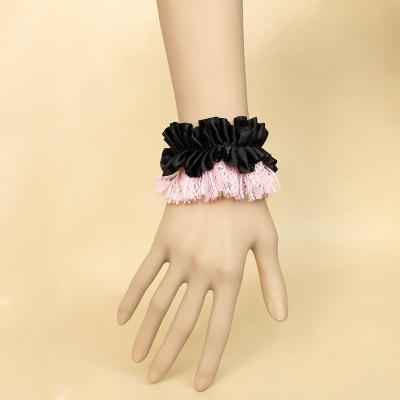 2012 Hot sale design Pink Lace Black Lint for Star