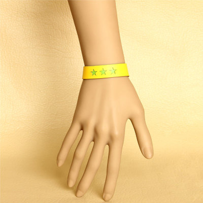 Three colors available unisex leisure wristbands wholesale