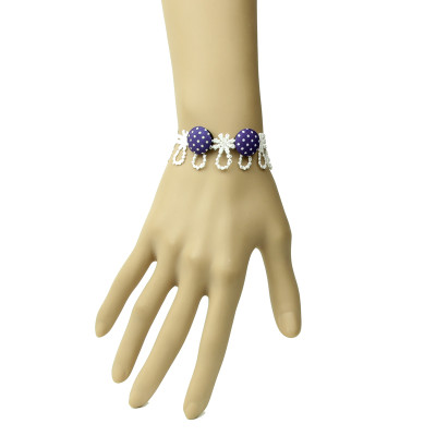 2012 Simple Personality Design Wristlet White Lace Bracelet
