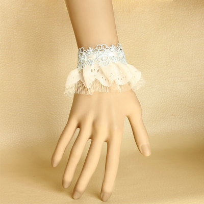 New Trend Lolita White Lace Bracelet For Promotion
