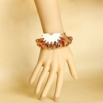 Ladies Wristlet Knitting Wool Bracelet for sale
