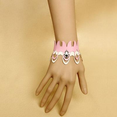 2012 Hot Sale Design Pink Leather Bracelet For Lover