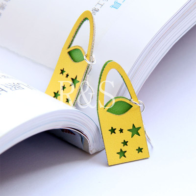 New Arrival Cut Yellow&Green Color Bag Earrings
