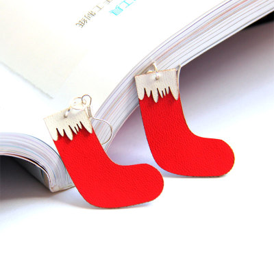 2012 Hot Sale Design Santa Claus's stockings snow boots Earring