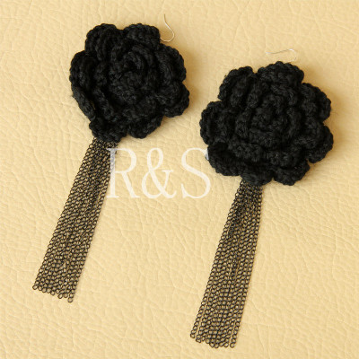 Japanese style flower fringe earrings Christmas's decorations