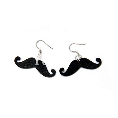 New Design Cute Black Moustachio Earrings