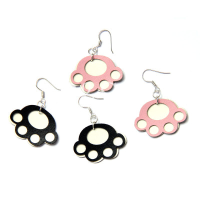 Cute Goose Foot Design Earrings For Promotion