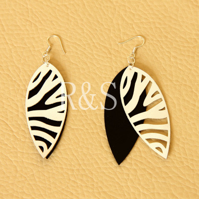 Fashion simple style zebra stripe earrings popular accessories