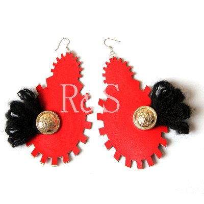 Hot Sale Punk Red Color Earrings For Sexy Women