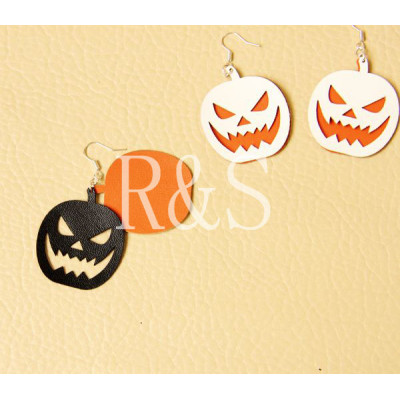 Pumpkin pattern colorful earrings for Halloween Day