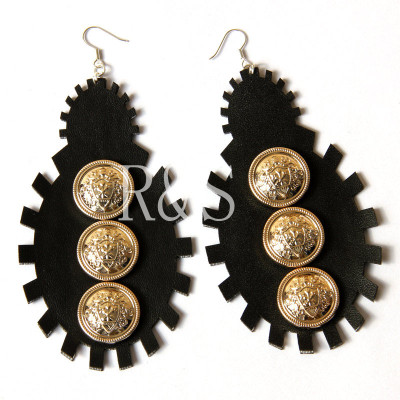 Punk Design Black Earrings Fashion Long Coral 2012