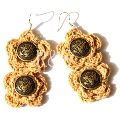New Arrival Woolen Long Drop Earrings From Wholesale